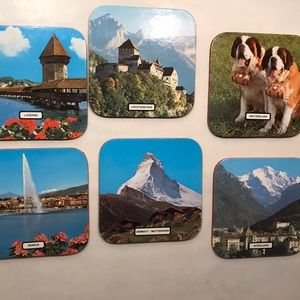 Other - Vintage Coasters. Laminated souvenirs